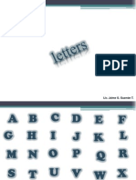01 Letters & Numbers