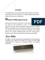 Microprocessors and Its History
