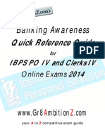 Banking Awareness Quick Reference Guide 2014 - Gr8AmbitionZ