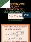Discriminante de una ecuación de segundo grado.pptx