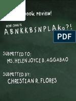 ABNKKBSNPLAko - Bob Ong (Book Review)