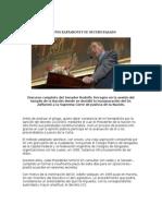 TERRAGNO, Roberto - Discurso Sobre Designación de Zaffaroni