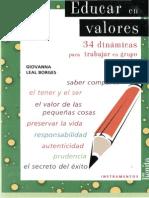 LEAL BORGES, G. - Educar en valores. 34 dinamicas para trabajar en grupo - San Benito, Buenos Aires, 2006.pdf