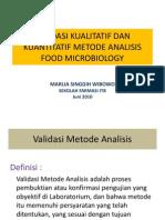 Validasi Metode Analisis Mikrobiologi s2.