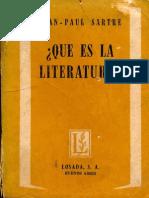 Jean Paul Sartre - Qué es la literatura_.pdf