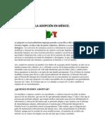 La Adopción en México