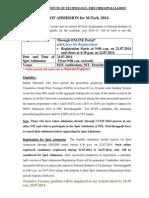 MTech Spot Admission 2014j