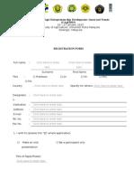 CAgE2015 Registration Form