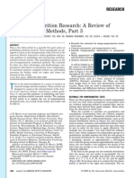Publishing Nutritional Research a Review of Non-parametric Methods