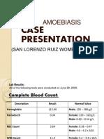 amoebiasis case presentation
