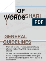 War of Words - Antakshari