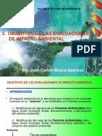 2 OBJETIVOS De Impacto Ambiental