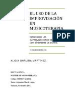 El Uso de La Improvisacion en Musicoterapia. Estudio de Las Improvisaciones de Un Caso Con Sindrome de Down