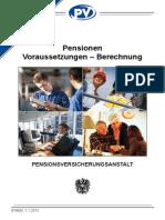 Pensionen Voraussetzungen-Berechnung