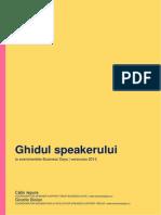 Ghidul Speakerului Workshopuri BD 2014