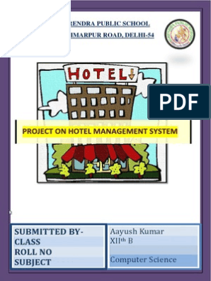 c++ project on hotel management | Hospitality Industry