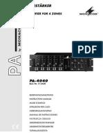 PA-4040 Mixer Sound