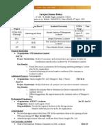 Experienced CV_Sarvjeet Kumar Dubey _ jl13rm52.doc