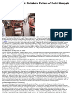 Plight of Rickshaw Pullers