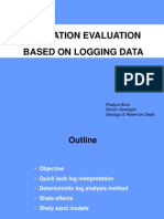 Formation evaluation using Well logs-quick look