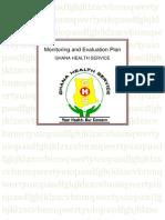 Ghs Monitoring & Evaluation Plan 2010-2013