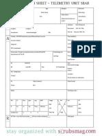 Nurse Brain Sheet Telemetry Unit SBAR