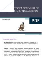 Procedura Privind Sistemul de Control Intern
