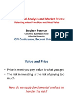 Fundamental Analysis and Market Pricesre Pen Man