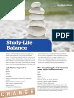 SCU Counselling - Tip Sheet 3 - Studylife Balance