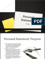 Personal Statement Powerpoint