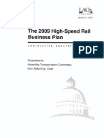 LAO Jan 2009 Review Business Plan High Speed Rail