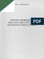Yurkievich, Saúl - Mundo Moroso y sentido errático en Felisberto Hernández