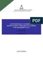 Regionalism Flanders - Northern Italy