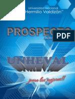 Prospecto Unheval-Admisión 2015