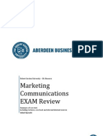 Marketing Communications Exam Summary