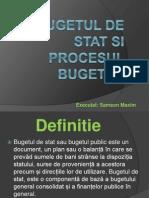 Bugetul de Stat Si Procesul Bugetar