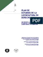 Plan Estudios FDyCS UAEM de la carrera de Derecho 2009 Completo