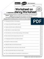Redundancy Worksheet 4