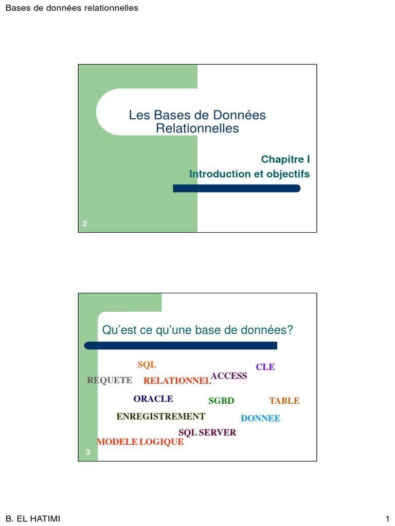 Bases De Donnees Aiac 2p