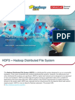 HDFS and Oracle
