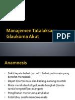 Manajemen Tatalaksana Glaukoma Akut