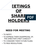 Meetings of Shareholders