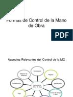 formas de control de la mano de obra