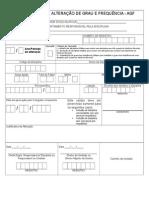 Formulário de AGF