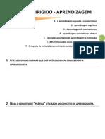Estudo Dirigido - APRENDIZAGEM E PROCESSOS RELACIONADOS