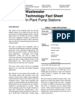 2002 - Waste Water Technology Fact Sheet in Plant Pump Stations