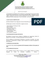 Edital - Doutorado Antropologia 2015