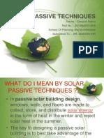 Solar Passive Techniques