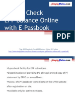 How to Check EPF Balance Online with e-passbook