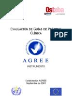 AGREE Instrumento de Evaluacion de Guias Clinicas Es